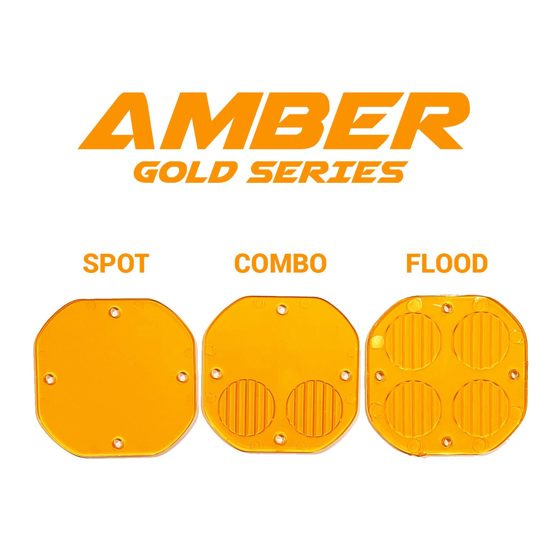 Amber GOLD Series Lens Available In Spot/Combo/Flood (2-Pack Lens Kit)