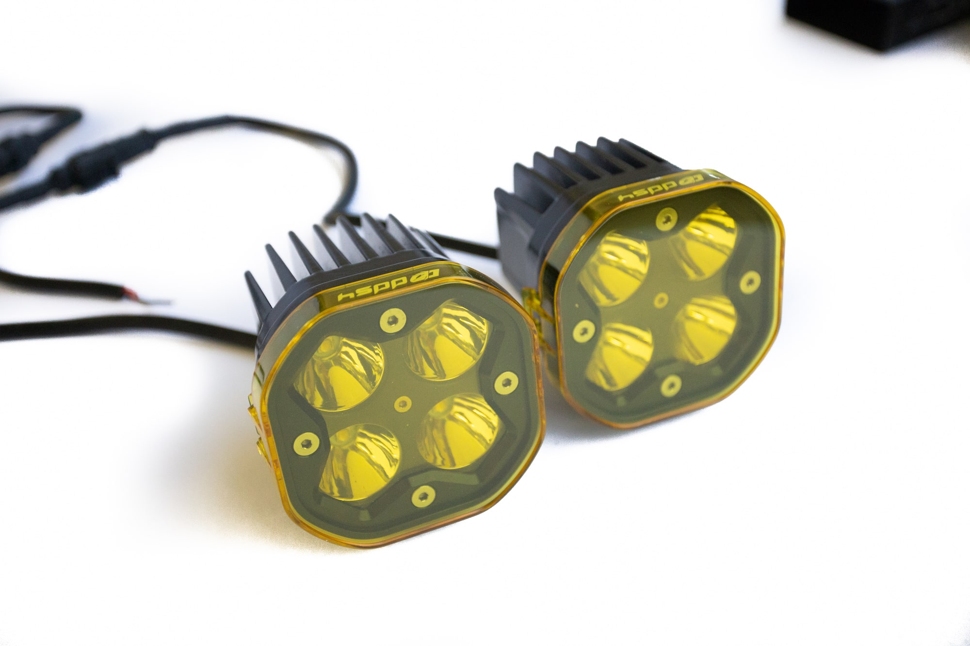 DDS4 / DDS4 PRO Yellow Lens & Light Cover/Diffuser Polycarbonate Construction (2-Pack Yellow Lens Cover Kit